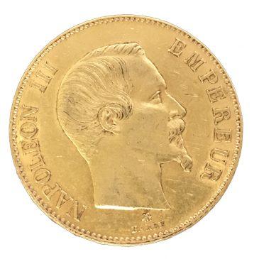 FRANCE 100FRANCS 1859(BB) 金貨入荷しました。¥286,000