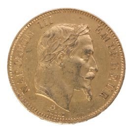FRANCE 100FRANCS 1862(A) NAPOLEON Ⅲ LAUREATE HEAD 1852-1870