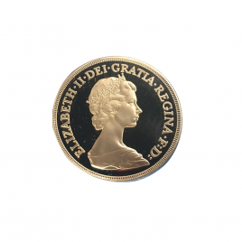 GREAT BRITAIN 5 POUNDS 1981 YOUNG ELIZABRTHⅡ