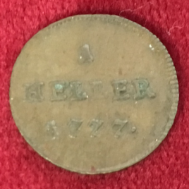 RÖMISCH DEUTSCHES REICH 1 HELLER 1777 JOSEPH Ⅱ 1765-1780