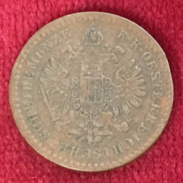 AUSTRIA 5/10 KREUZER 1859(V) MINT:VENICE FRANZ JOSEPH Ⅰ 1848-1916
