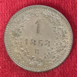 AUSTRIA 1 KREUZER 1858(B) MINT:KREMNITZ FRANZ JOSEPH Ⅰ 1848-1916