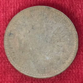 AUSTRIA 1 KREUZER 1859(M) MINT:MILAN FRANZ JOSEPH Ⅰ 1848-1916