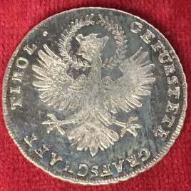 AUSTRIA TYROL 20 KREUZER 1809 MAXIMILIAN JOSEPH Ⅰ ISSUE By ANDREAS HOFER INSURRECTION COINAGE