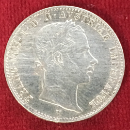 AUSTRIA 1/4 FLORIN 1863(V) MINT:VENETIA FRANZ JOSEPH Ⅰ 1848-1916