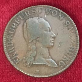 AUSTRIA SALZBURG 1 KREUZER 1805 FERDINAND 1803-1805