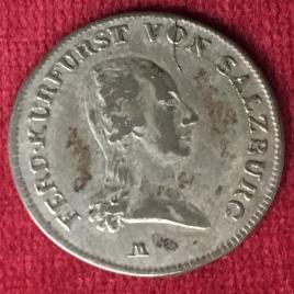 AUSTRIA SALZBURG 6 KREUZER 1805(M) FERDINAND 1803-1805