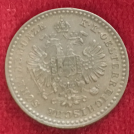 AUSTRIA 5/10 KREUZER 1866(A) FRANZ JOSEPH Ⅰ 1848-1916