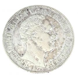 GERMANY -SAXONY  THALER 1854 F