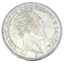 GERMANY -SACHSEN  THALER 1848 F
