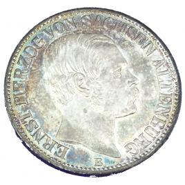 GERMANY  -SAXE ALETENBURG THALER 1869 B