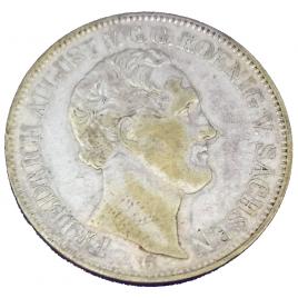GERMANY -SAXONY  THALAER 1844 G