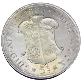 SOUTH AFRICA  5 SHILLINGS 50TH ANNIVERSARY SOUTH AFRICAN UNION