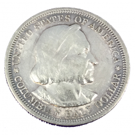 U.S.A  HALF DOLLAR 1893 COLUMBIAN EXPOSITION COLUMBUS SHIP SANTAMARIA