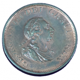 GREAT BRITAIN  HALF PENNY 1799 SHIP WITH 6 RELIEF GUNSORTS GEORGE Ⅲ 1760 – 1820 SPINK3778.