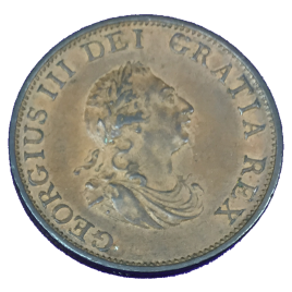 GREAT BRITAIN  HALF PENNY 1799 SHIP WITH 9 RELIEF GUNPORTS GEORGE Ⅲ 1760 – 1820 SPINK3778.