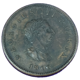 GREAT BRITAIN  HALF PENNY 1806 GEORGE Ⅲ 1760 – 1820 SPINK3781.