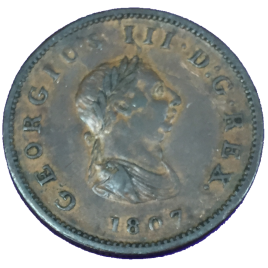 GREAT BRITAIN  HALF PENNY 1807 GEORGE Ⅲ 1760 – 1820 SPINK3781.