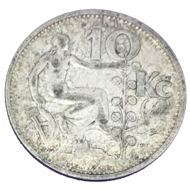 CZECHO- SLOVAKIA  10 KORUN 1932