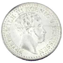 GERMANY PREUSSEN  1 SILBER GROSCHEN 1825 (D) FRIEDRICH WILHELM Ⅲ 1797 – 1840