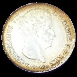 DENMARK SCHLESWIG HOLSTEIN 1 1/4 SCHILLING 4 RIGSBANKSKILLING 1842 FK- CHRISTIAN Ⅷ
