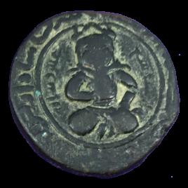AL-JAZIRA ANATOLIA MARDIN NASIR AL-DIN ARTU ARSLAN AH597 – 637(1201 – 1239) Obv:TURK SEATED SPENGLER・SAYLES 46 MITCHINER 1065 TIM WILKES 1220