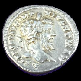 ROMAN EMPIRE SEPTIMIUS SEVERUS AD193 – 211 AR DENARIUS Obv:L SEFT SENAVG IMP XI PART MAX. Rev:COSⅢ PP.VICTORY SEAR 6270.