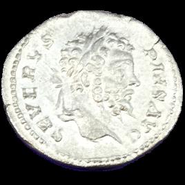 ROMAN EMPIRE SEPTIMIUS SEVERUS AD193 – 211 AR DENARIUS Obv:SEVERVS PIVS AVG Rev:FVNDATOR PACIS SEVERUS TOGATE STG. SEAR 6282