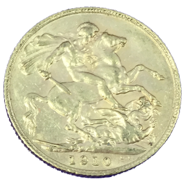 GREAT BRITAIN  1 SOVEREIGN 1910 EDWARD Ⅶ 1901 – 1910 FR400.