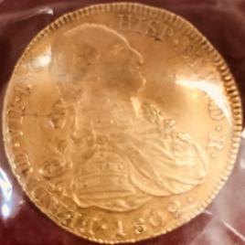 COLOMBIA  8 ESCUDOS 1809 JF.F FERDIMAND Ⅶ 1808-1821 MINT:POPAYAN FR61 KM66.2 VF SCEOCH