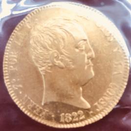 SPAIN 320 REALES 1822 SRM MINT:MADRID FERDINAND VII 1808-1833  FR319 KM566 AU/UNC