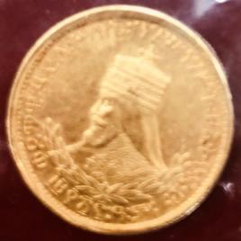 ETHIOPIA  1WARK EE 1923 (1930-1931) HAILE SELASSIE FR28 KM 21 EF+