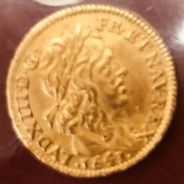 France 1/2 Louis d'or 1641 Louis XIII 1610-1643 FR411 KM101 VF