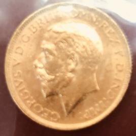 AUSTRALIA  1 Sovereign 1911(S) SYDNEY MINT GEORGE V FR38 KM29 UNC