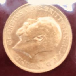 AUSTRALIA   ISOUVEREIGN 1915(S) GEORGE V MINT:SYDNEY FR38 KM29 UNC