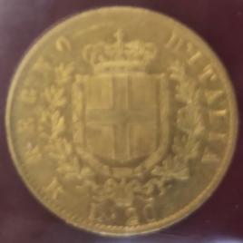 ITALY KINGDOM  20LIRE 1877 VITTORIO EMANUELEⅠ (1861-1878)  FR12 KM10.2 VF+