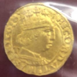ITALY NAPOLI  ALFONSOⅡ 1494-1495 1DUCAT NO DATE FR820 UNC