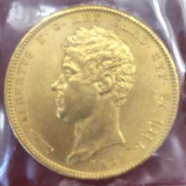 ITALY SARDINIA  100LIRE 1835 EAGLE'S HEAD CARLO ALBERTO 1831-1849 FR1138.KM133.1 AU/UNC
