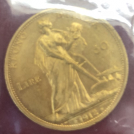 Italy Kingdom  50Lire 1912 Gold