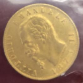 ITALY KINGDOM  20LIRE 1873(M) mint:milan VITTORIO EMANUELEⅡ 1861-1878 FR13.KM10.3 EF+