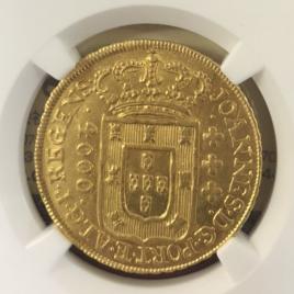 BRAZIL 4000REIS 1810 BAHIA JOAO PRINCE(1805-1818) FR97 KM235.1 KE023 KGMWHECC EF
