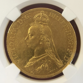 GREAT BRITAIN  5POUNDS 1887  VICTORIA(1837-1901) JUBILEE  KM769 FR390 EF+