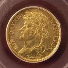 GERMANY WESTPHALIA  20FRANCS 1808  HIERONYMUS NAPOLEON (1807-1813) KM103 FR3517 VF+