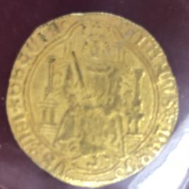SPAIN ENRIQUE Ⅳ 1454-1474 1ENRIQUE N.D. SEVILLA MINT 4.51gm FR116 C/C920 VF
