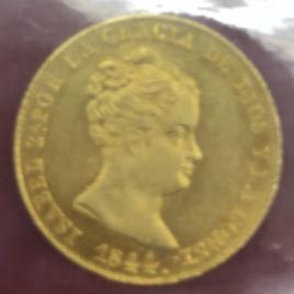 SPAIN  80REALES 1844B.PS ISABELⅡ 1833-1868 FR324. KMA579 AU/UNC