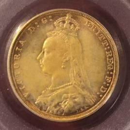 AUSTRALIA 1SOVEREIGN 1888(M) VICTORIA(1837-1901) JUBILEE FR20 KMIO BSNTAKWHC PLSDNAKWFSL EF+