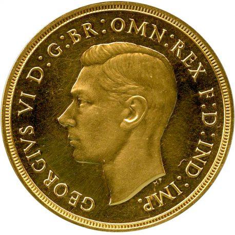 1005.イギリス ジョージ6世(1936-1952) 2ポンド金貨 1937 Fr410 KM860 Spink4075 Proof UNC obv