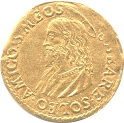 バチカン 1スクード・ドーロ金貨 N.D. グレゴリオ13世(1572-1585) イエス・キリスト胸像