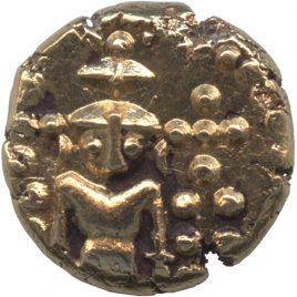 英領インド マドラス保護領 1パゴダ金貨 N.D.(1740-1807)