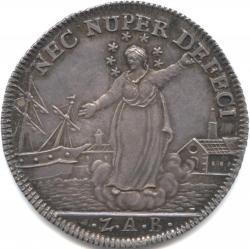 イタリア ヴェネツィア オゼッレ銀貨 1793 ヴェネツィア共和国元首ルドヴィーコ・マニン(1789-1797) 港と雲上のマリア トーン・未使用品